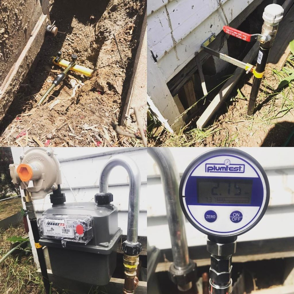 Gas meter replaced and relocated
